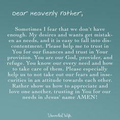Prayer: Trusting In God