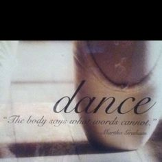 Describes why I dance perfectly