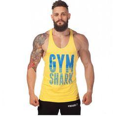 Regata Cavada Gym Shark Amarela Regata Academia d45bd487380