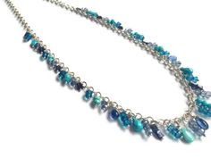 Sterling silver turquoise iolite and mystic quartz by stonepoetry, $135.00