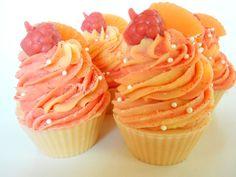 Raspberry Orange Lemonade Soap Cupcake Cupcake by RoyaltySoaps, $6.50