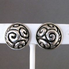 Zina Beverly Hills Sterling Silver Swirl Clip Back Earrings