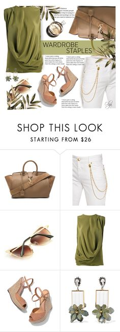 """Casual Friday 4"" by olga1402 on Polyvore featuring Yves Saint Laurent, Pierre Balmain, Gianluca Capannolo, Schutz, Chanel, Marni and WardrobeStaples"
