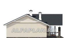 """🏠 """"Яркий мир"""" - одноэтажный дом с высокой гостиной и просторной террасой: цены, планировка, фото. Купить готовый проект House Plans, Floor Plans, Layout, House Design, Flooring, How To Plan, Architecture, House Styles, Outdoor Decor"""