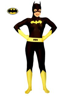 DC Comics Batgirl Includes: Classic Zentai Stretch Bodysuit with attached Hooded Mask, Feet and Gloves. This is an Adult Costume. Batman Costumes, Batgirl Costume, Adult Costumes, Costumes For Women, Halloween Costumes, Halloween 2015, Women Halloween, Halloween Ideas, Happy Halloween