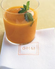 A refreshing, sweet cocktail made with frozen mango puree, simple syrup, rum, lime juice, and crushed ice (monogram)