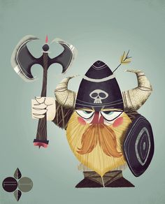 Viking by Fantastic Hysteria, via Behance - I don't know why, but I really like this!