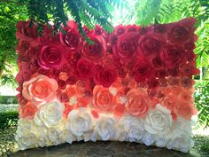Ombre Paper Flower Wedding Backdrop Wedding от MioGallery на Etsy