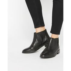 Lost Ink Black Leather Chelsea Boots ($99) ❤ liked on Polyvore featuring shoes,