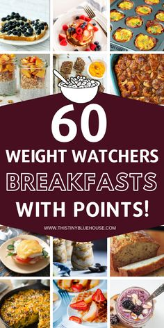 The ultimate collection of Weight Watchers Breakfast Recipes With Smart Points to make your weight watchers journey delicious and easy!