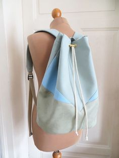 Backpack - Minty light blue from AnnaSeewald by DaWanda.com