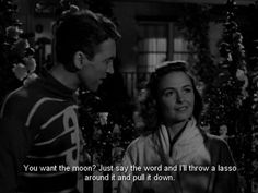 """What do you want?... It's a wonderful life"