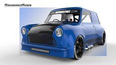 Mini Coper, Mini Trucks, Wide Body, Classic Mini, Car Stuff, Cars And Motorcycles, Vintage Cars, Cool Cars, Benz