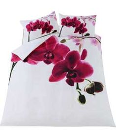 Orchid Multicoloured Bedding Set - Double.