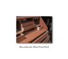 Massachusetts Slant Front Desk in solid mahogany