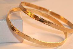Wedding Gift | Hammered Bangle | 2 Solid GOLD Bangles |14K GOLD | Bracelet For Women, Shiny Hammered Bracelet , Delicate Wide Bracelet by LIRANSHANI on Etsy https://www.etsy.com/listing/233620498/wedding-gift-hammered-bangle-2-solid