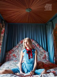 Over the Hills and Far Away - Kirsty Hume by Erik Madigan Heck for Harper's Bazaar UK September 2015 - Gucci