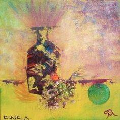 """""""Fusión y Locura"""" 30 x 30 cms Óleo 2008"""