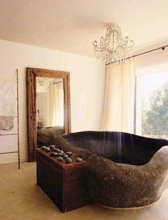 Bali pebble stone bathtub by rosario