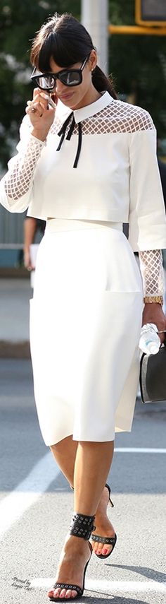 New York Street Style - White with White on White