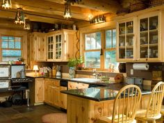 Love this kitchen, especially the antique  stove