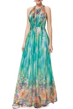 wang multicolor open back maxi floral dress here, find your evening dresses at dezzal, huge selection and best quality. Blue Wedding Dresses, Prom Dresses, Simple Long Dress, Dress Outfits, Fashion Dresses, Cocktail Gowns, Beautiful Outfits, Gorgeous Dress, Floral Maxi Dress