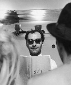 Jean Luc Godard on the set of Le Mépris 1963