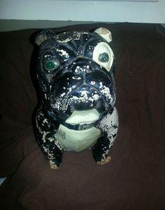 Vintage Carnival Chalkware Bulldog | eBay
