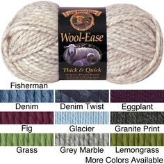Lion Brand -Ease Thick & Quick Machine-Washable Yarn