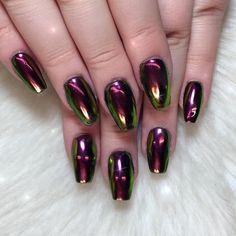 mirror nails | ... Pinterest já deve ter notado que as Mirror Nails estão bombando