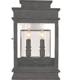 Visual Comfort Chart House Short Linear Lantern in Bronze CHO2908BZ | Visual Comfort Lighting Lights | Visual Comfort | Visual Comfort Lighting | Alexa Hampton | Visual Comfort Sconces | Lighting New York | Lighting Fixtures