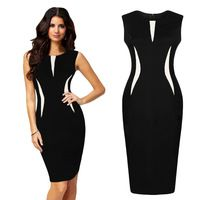 Hot New Sexy Women Sleeveless Slim Fashion Bodycon Party Evening Pencil Dress Short Dresses, Dresses For Work, Formal Dresses, Party Dresses, Trendy Dresses, Cheap Dresses, Formal Shoes, Casual Dresses, Dress Outfits
