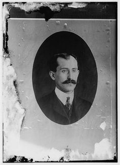 Orville Wright, age 34, head and shoulders, with mustache