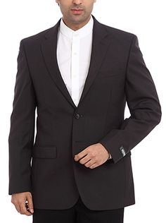 Make others follow your style by wearing this Raymond Men Black Formal Jacket at any formal occasions or business meets. Providing a modern fit, this jacket is also very comfortable to wear. The medium black color further heightens the urbane look of the jacket. Made from a blend of 65% polyester and 35% wool, the fabric is soft and smooth to touch. Additionally, the fabric is also skin-friendly and breathable. Crafted for the men of confidence, this jacket will make a great addition to your…