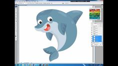 Illustrating drawing painting - how to draw cartoon dolphin