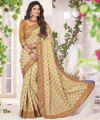 Cream Color Upada Function & Party Wear Sarees : Samridhi Collection YF-31601
