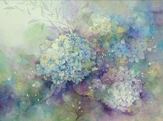 夢色水彩画~アジサイⅡ~♡ |アトリエ・ルシェルシェ~花の絵と、もの創り~