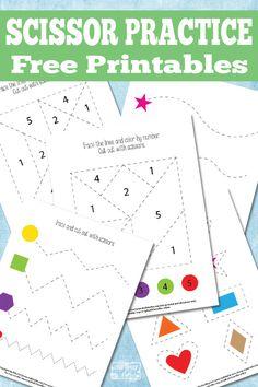 Simple Scissor Practice Printables