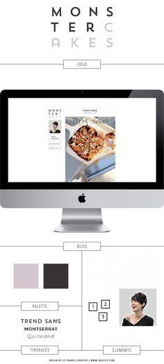 Monster Cakes Blog Design