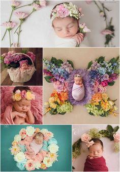 Newborn Photography Flowers - Sweet baby girls