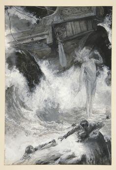 Edwin Austin Abbey, 'The Shipwreck- Act I, Scene I, The Tempest' (1891).