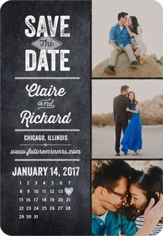 Rustic Calendar - Save the Date Magnets - Robyn Miller - Black : Front