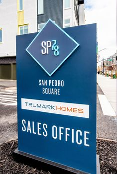 by Trumark Homes Signage 3 Sales Office, Signage, New Homes, San, Lettering, Billboard, Drawing Letters, Texting, Signs