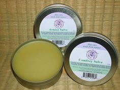 Arnica salve...eases sore muscles and inflammation.