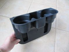 Wedge Cup Holder Sewing Caddy - for the car or between the seat cushions of the lounge. From automotive shops.