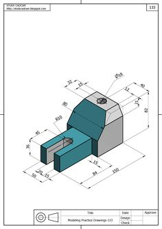 Mechanical Design, Mechanical Engineering, Autocad Inventor, Isometric Drawing Exercises, 3d Drawings, Technical Drawings, Cad Computer, Interesting Drawings, 3d Cnc