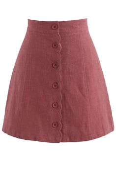 Nifty Scrolled Bud Skirt in Berry- New Arrivals - Retro Indie and Unique Fashion Capsule Outfits, Fall Capsule Wardrobe, Fall Outfits, Cute Outfits, Fashion Outfits, Fashion Advice, Fashion Fashion, Street Fashion, Red Skirts