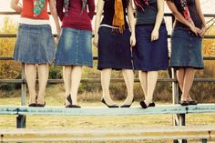 denim skirts all 'round!