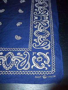 vintage+men's+handkerchiefs | Vintage Depression Era Mens Fast Color Tuside Workware Handkerchief ...