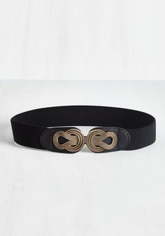 Boldly Buckled Belt in Black. All it takes to turn an understated outfit up a notch is hooking this black belt around your waistline! #black #modcloth